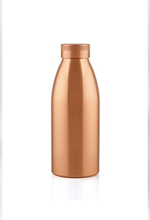 Aayu Go Seamless Copper Bottle , 100% Copper Bottle , 500ML