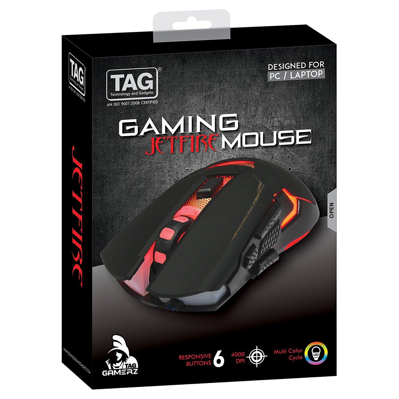 TAG GAMING MOUSE -JETFIRE - Unnati Enterprises