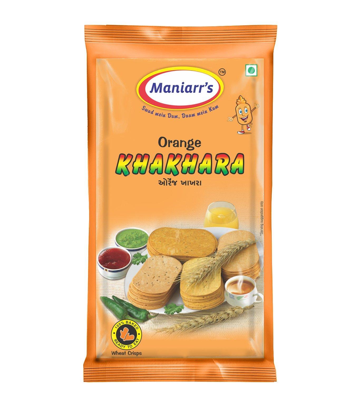 Orange Khakhra (Pack of 8) - Unnati Enterprises