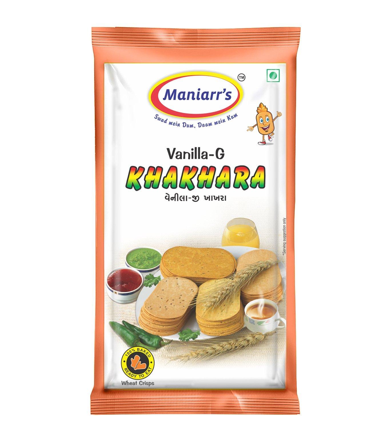 A2 Maniarrs Khakhara with 4 Flavors (360 gm, Pack Of 8) - Unnati Enterprises