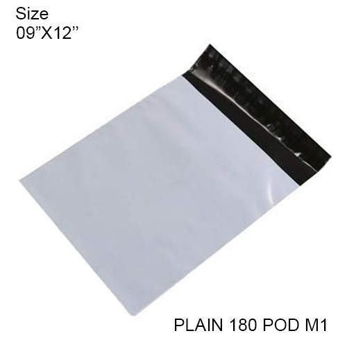 Tamper Proof Courier Bags(09X12 PLAIN 180POD M1) - 100pcs - Unnati Enterprises