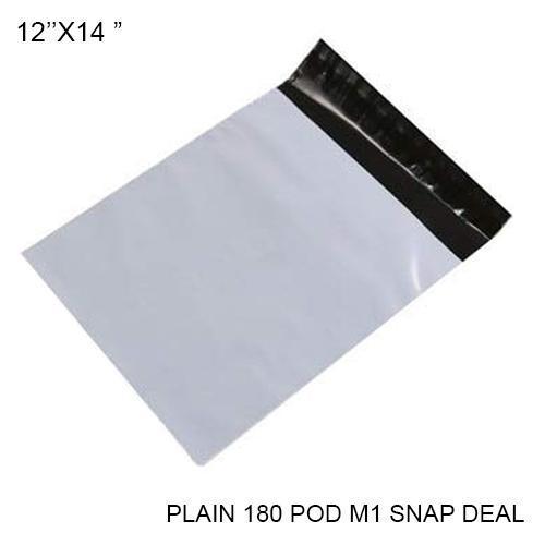 Tamper Proof Courier Bags(12X14 PLAIN 180POD M5 SNAP DEAL) - 100pcs - Unnati Enterprises