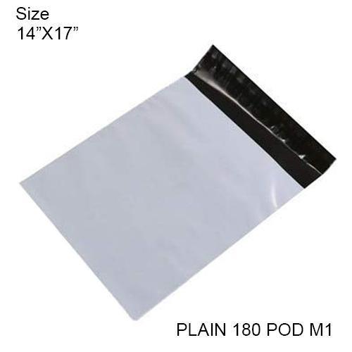 Tamper Proof Courier Bags(15X19 PLAIN 180POD M1) - 100pcs - Unnati Enterprises