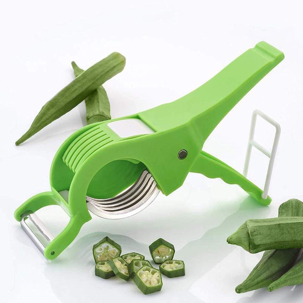 Unnati -  Kitchen combo - Revolving 16pc Plastic Spice Rack, Vegetables Spiral Cutter, Gas Lighter, Big Tea Strainer Sieve/Chai Chalni with Vegetables Cutter/ Slicer / Peeler (5 pcs) - Unnati Enterprises