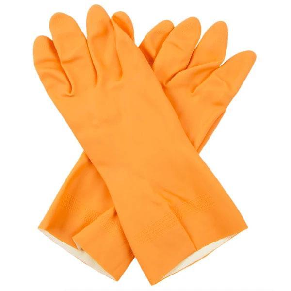 Flock line Reusable Rubber Hand Gloves (Orange)1pc - Unnati Enterprises