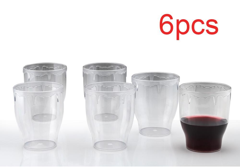 Stylish look Fancy Glass, Transparent Glasses Set 300ml - Unnati Enterprises