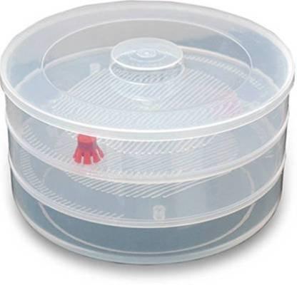 Plastic 3 Compartment Sprout Maker, White - Unnati Enterprises