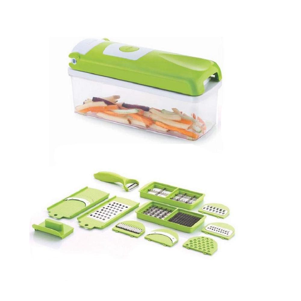12 in 1 Magic Super Dicer Fruit Cutter Vegetable CHIPSER Unbreakable New Push & Clean - Unnati Enterprises