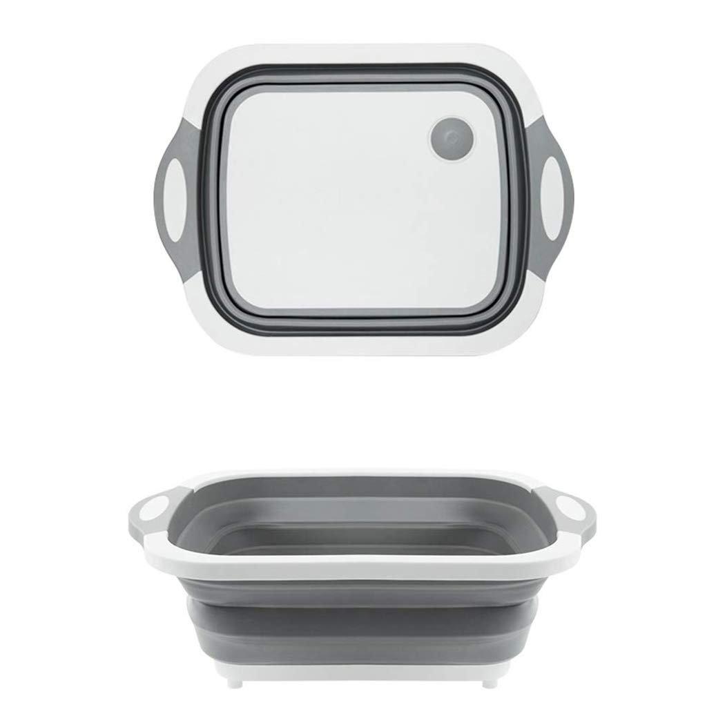 Foldable Chopping Board, Dish Rack, Washing Bowl & Draining Basket, 3in1 Multi-Function - Unnati Enterprises