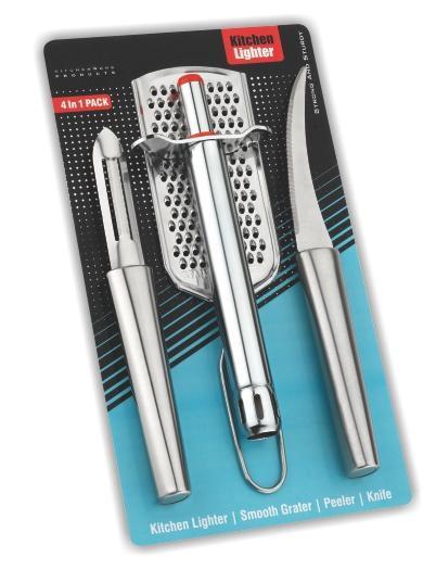 Kitchen Combo -Stainless Steel  2-type Knives and Peeler Set - Unnati Enterprises