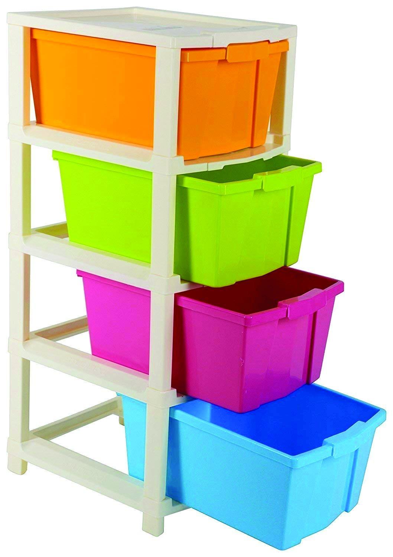 Multipurpose Modular Drawer Organizer Storage Box - 4 Layers - Unnati Enterprises