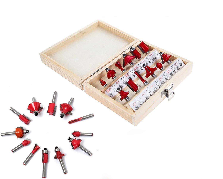 12/15pcs Milling Cutter Router Bit Set - Unnati Enterprises