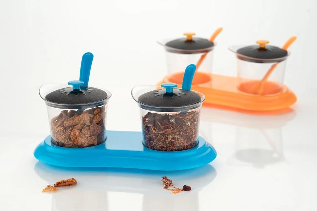 Multipurpose Dining Set Jar and tray holder, Chutneys/Pickles/Spices Jar - 2pc - Unnati Enterprises