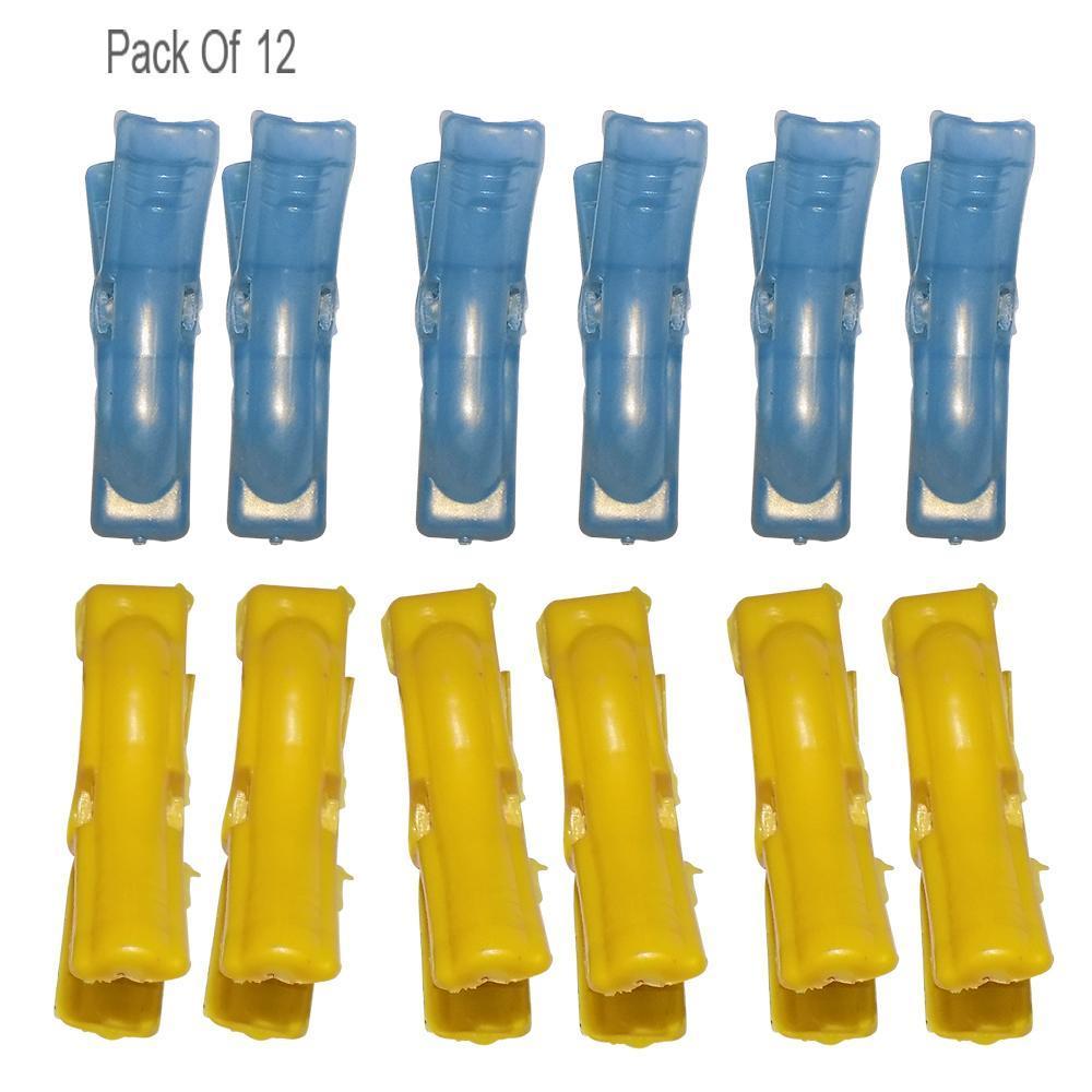 Multipurpose Plastic Clothes Pegs / Hanging Clips / Cloth Drying Clips - 12 pcs (Round) - Unnati Enterprises