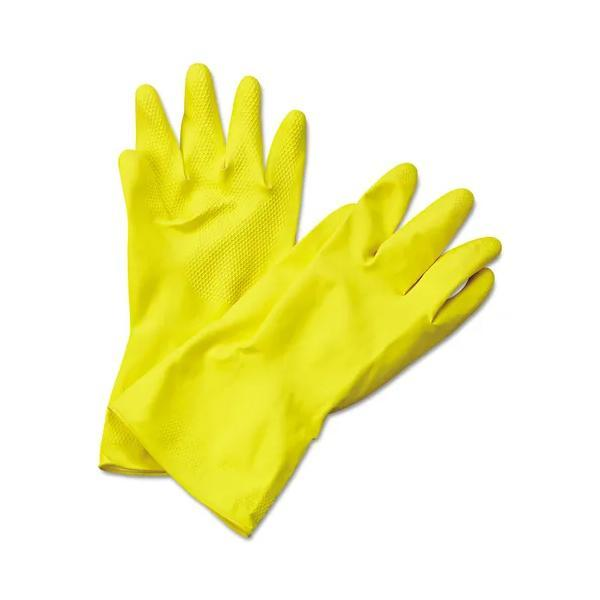 Flock Premium Reusable Rubber Hand Gloves (Yellow)1pc - Unnati Enterprises