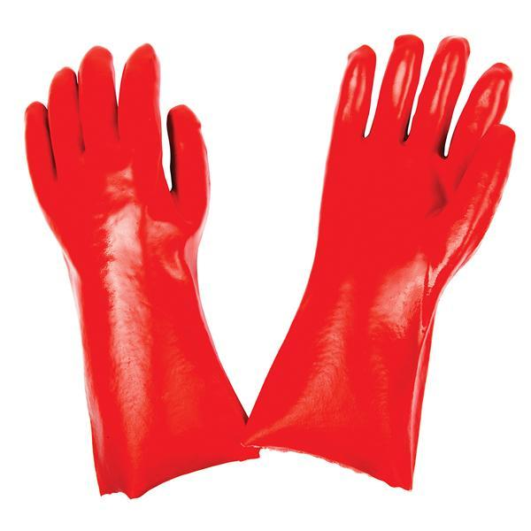 Cut Glove Reusable Rubber Hand Gloves (Red)1 pc - Unnati Enterprises