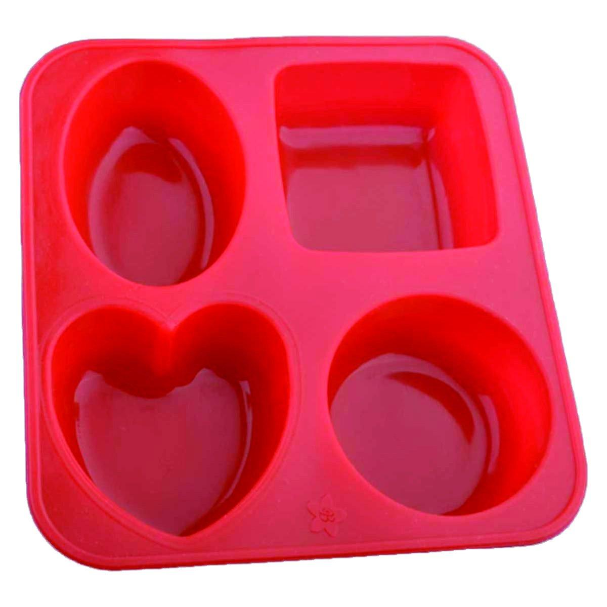 Silicone Circle, Square, Oval and Heart Shape Soap And Mini Cake Making Mould - Unnati Enterprises