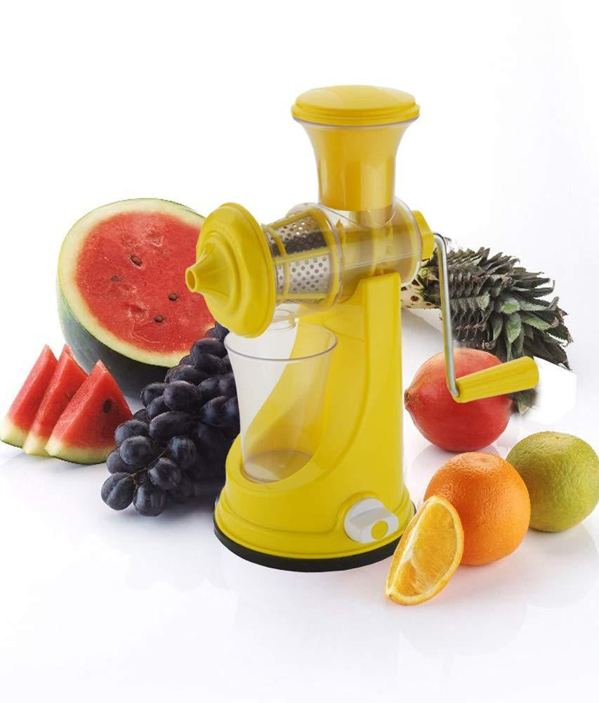 Unnati -  Kitchen combo -Manual Fruit Juicer with Plastic Small Tea Strainer Sieve &  6pcs Plastic Juice Drinking Glasses - Unnati Enterprises
