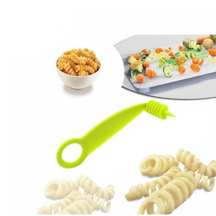 Unnati -  Kitchen combo - Manual 2 in 1 Handy smart chopper for Vegetable Fruits with spiral cutter - Unnati Enterprises