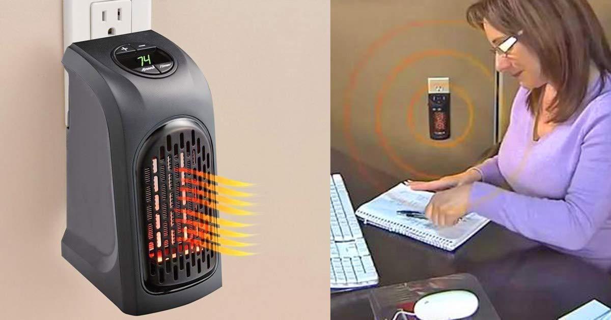 Electric Mini Handy Heater Plug-In Wall (400w) - Unnati Enterprises