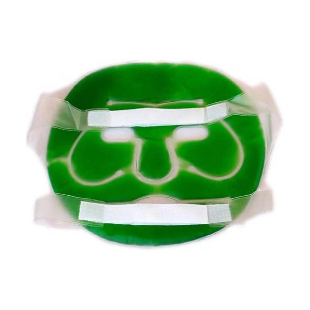 Plastic Reusable Anti Stress Cooling Gel Face Mask with Strap-on Velcro (Green) - Unnati Enterprises