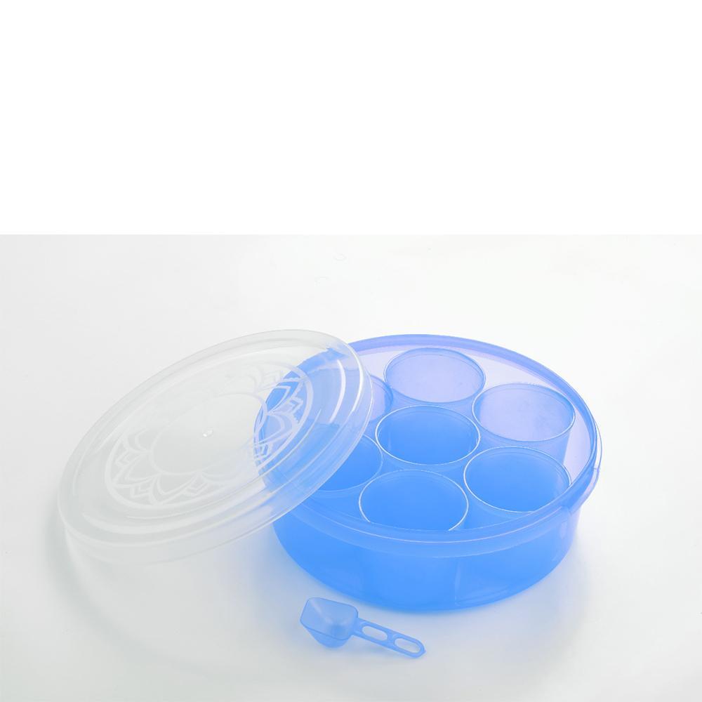 2026 Maitri Plastic Round Spice Box / Masala Dabba - Spice Jar (7pcs) - Unnati Enterprises
