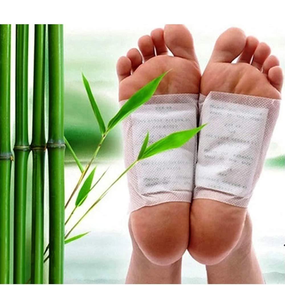 kinoki Cleansing Detox Foot Pads, Ginger & salt Foot Patch -10pcs (Free Size, White) - Unnati Enterprises