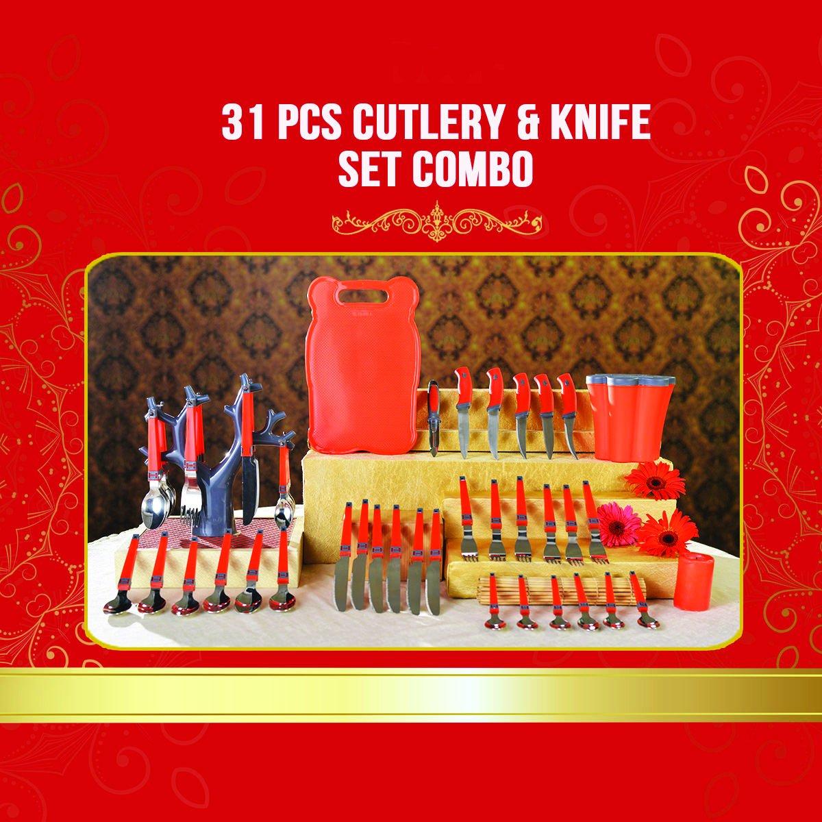Kitchen Combo 31 Pcs Cutlery & Knife Set - Unnati Enterprises