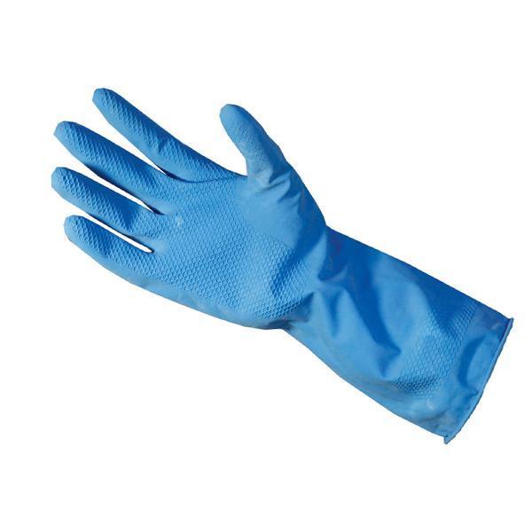 Flock Premium Reusable Rubber Hand Gloves (Blue )1pc - Unnati Enterprises