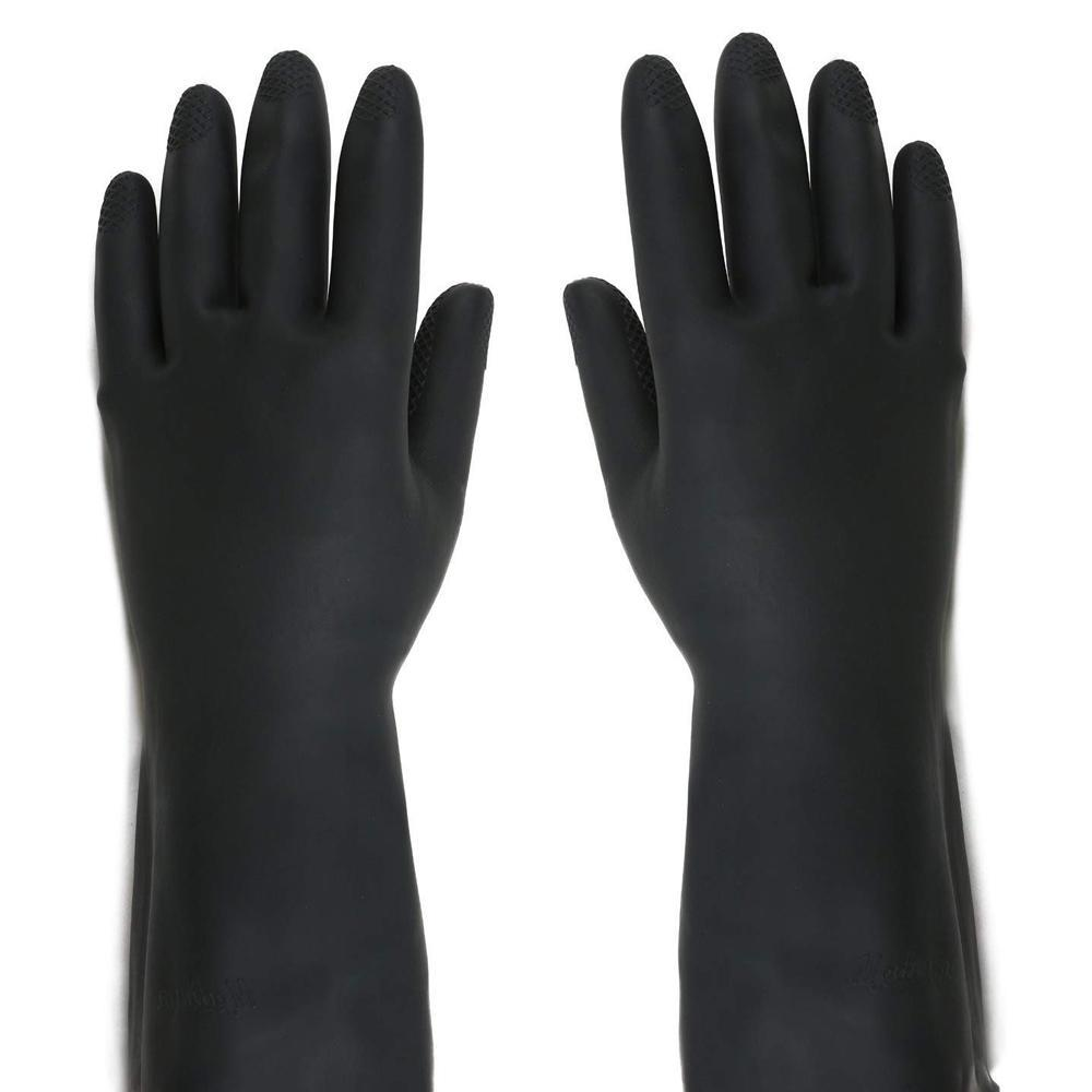 Heavy Reusable Rubber Hand Gloves (Black)1pc - Unnati Enterprises