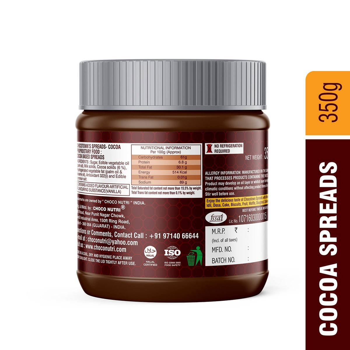 Chocotown Spreads Cocoa spread - Unnati Enterprises