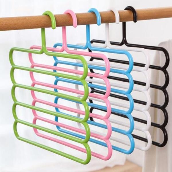 5 in 1 Multipurpose Plastic Hanger, Assorted (5-Layer) - Unnati Enterprises