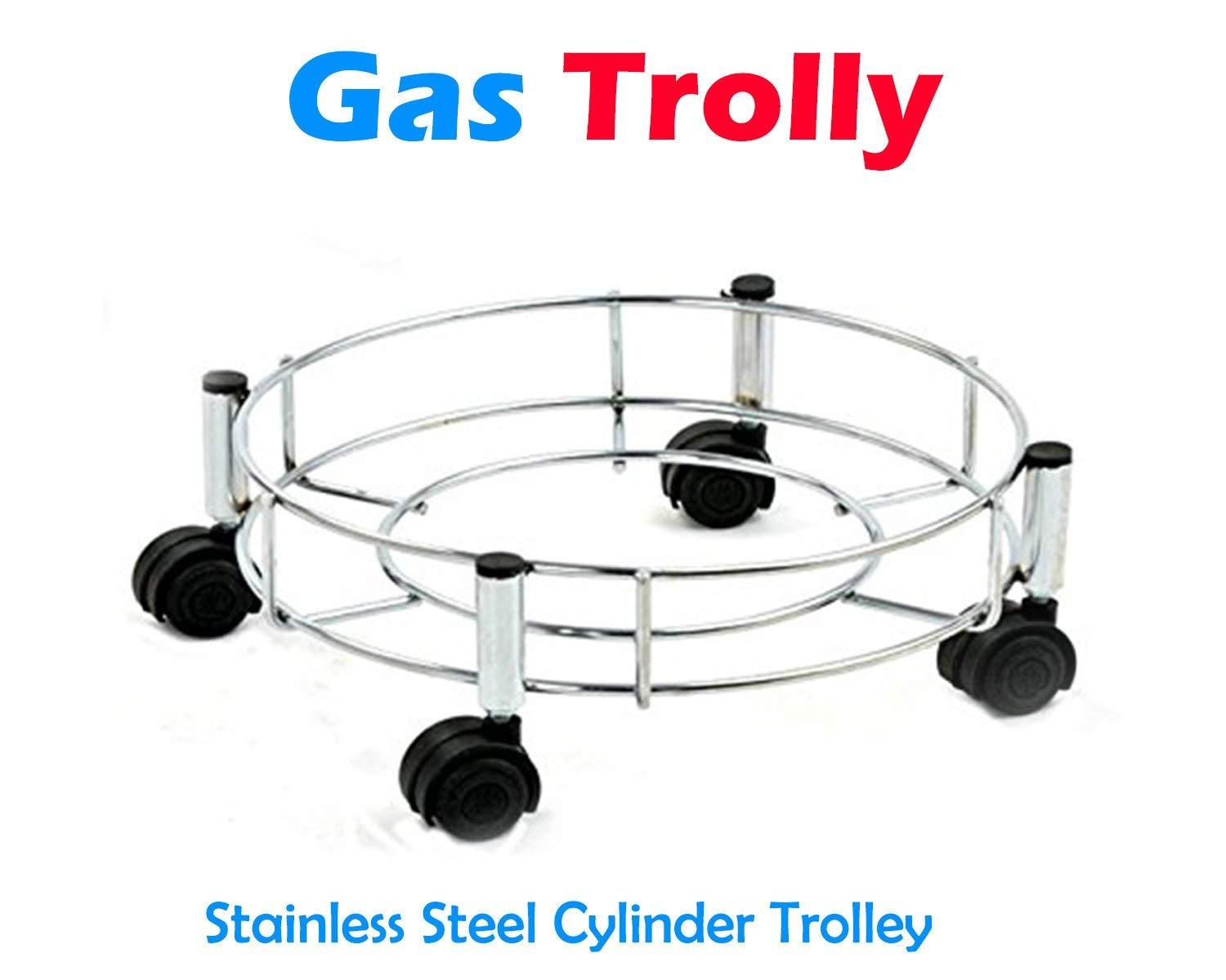Stainless Steel Gas Cylinder Trolley - Unnati Enterprises