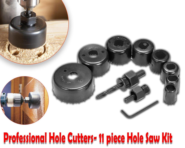 Unnati -  Professional 11 Pieces Hole Saw Cutter Set Cutting Tool with 24 Pieces T Spanner Socket Set - Unnati Enterprises