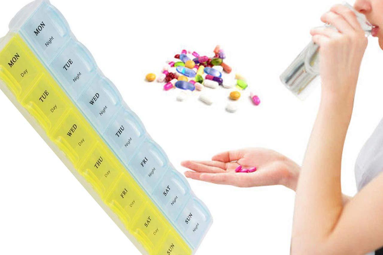 28 Days Medicine Pill Drug Storage Box Case Mini Pillbox Container - Unnati Enterprises