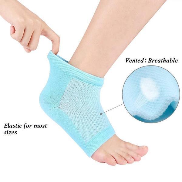 Heel Pain Relief Silicone Gel Heel Socks (Multicolor) - Unnati Enterprises