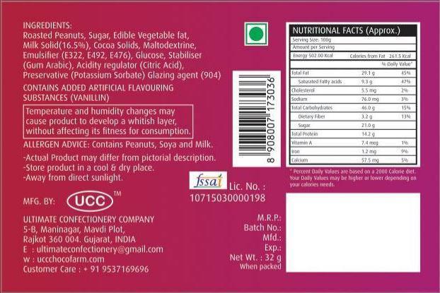 Chocolate peanuts (32 GMs) - Unnati Enterprises