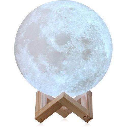 3D Moon Lamp USB LED Night Moonlight Gift Touch Sensor 7 Colors Changing (15cm) - Unnati Enterprises