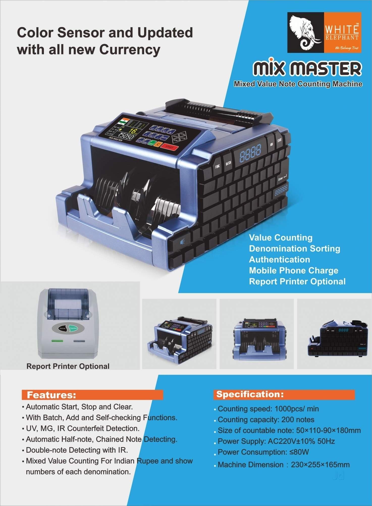 Office Supply - Multi Currency Counter Machine - Unnati Enterprises