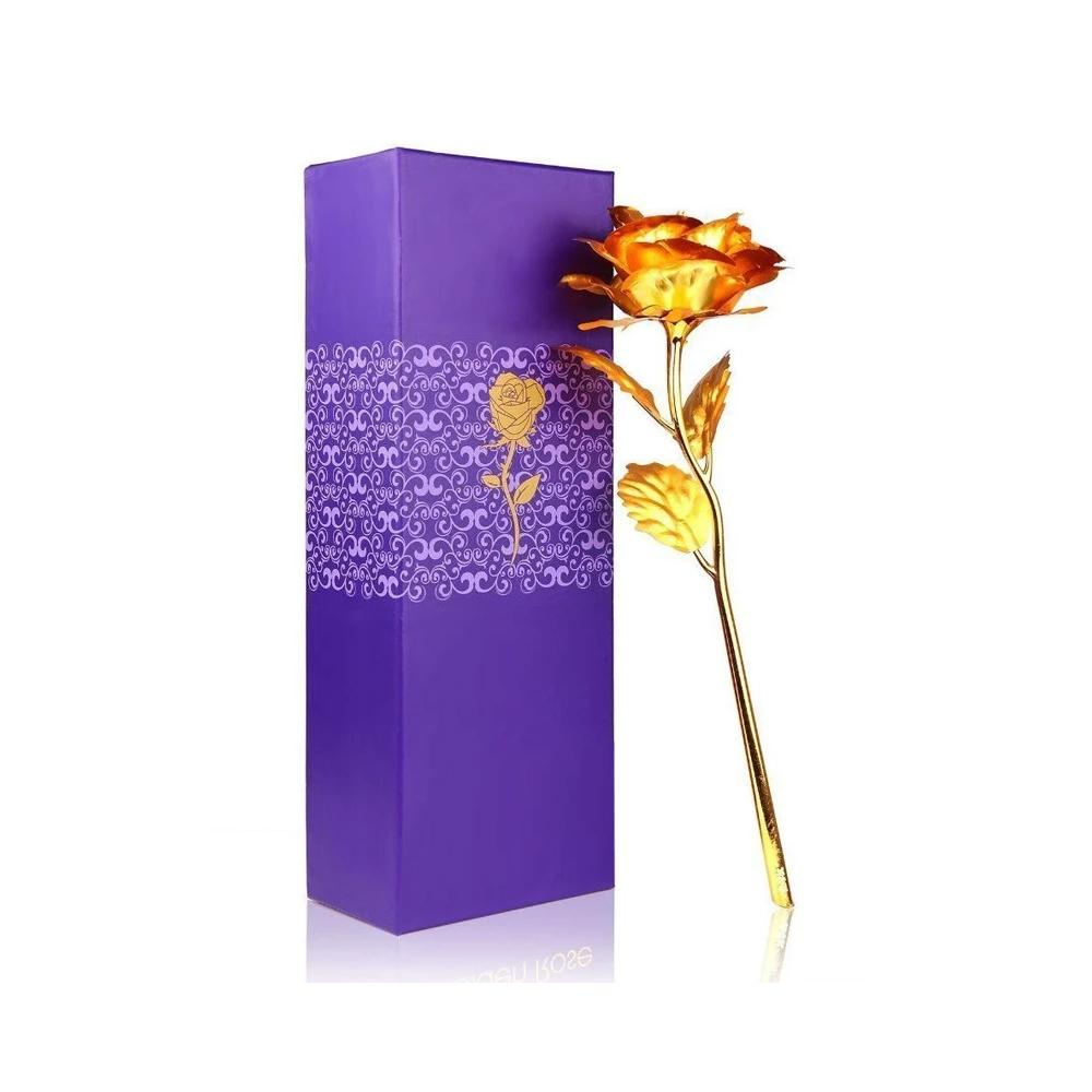 Effete Festival Gift Combo - Chocolicious Peanut 96gm with Golden Rose 10 INCHES with Carry Bag - Unnati Enterprises