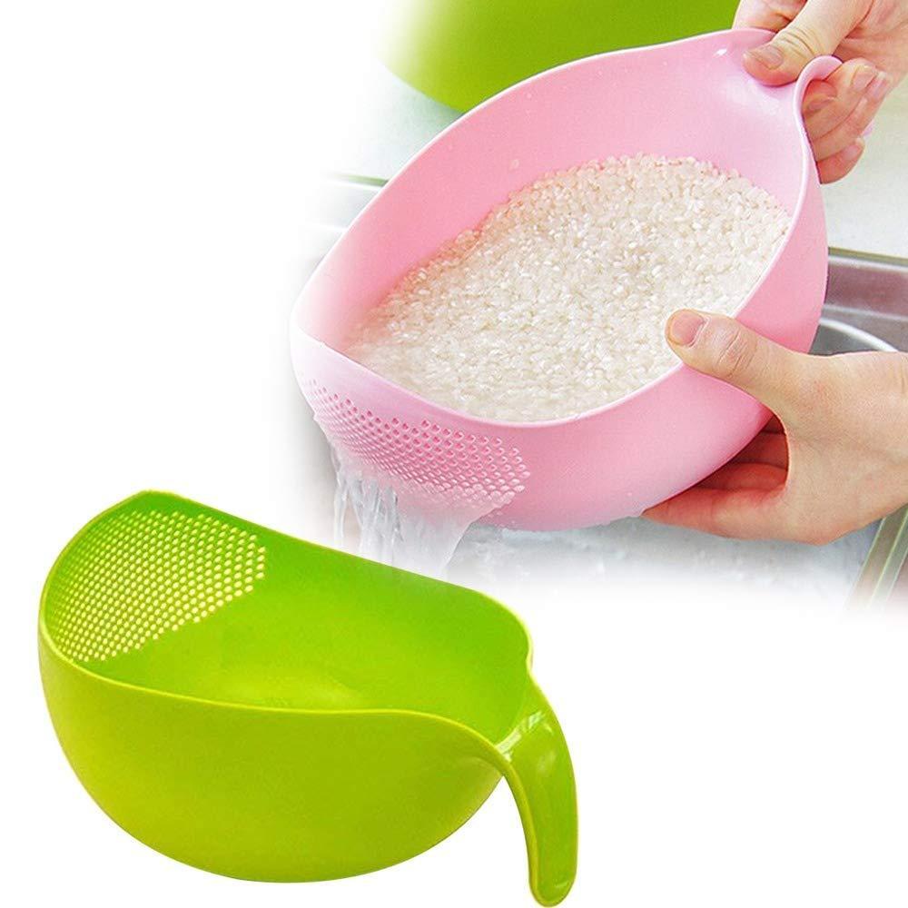 Rice Bowl Thick Drain Basket with Handle - Unnati Enterprises