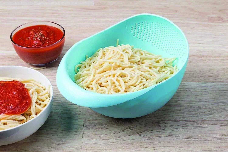 Kitchen Plastic big Rice Bowl Strainer Perfect Size for Storing and Straining - Unnati Enterprises