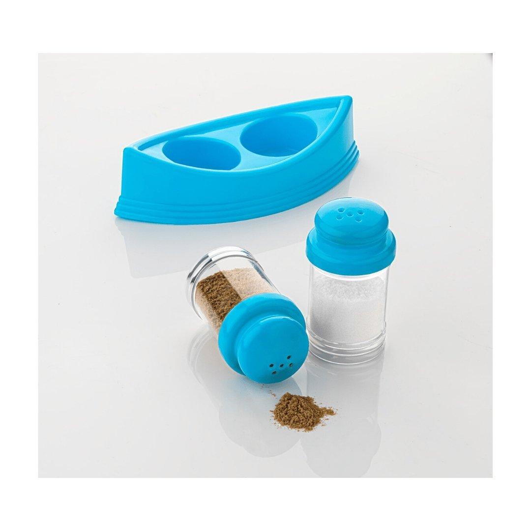 Plastic Salt & Pepper Shakers/Masala Dabbi with Stand/Salt and Pepper Set for Dining Table - Unnati Enterprises
