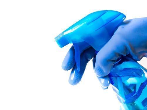 Flock line Reusable Rubber Hand Gloves (Blue)1pc - Unnati Enterprises