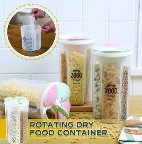 Kitchen Storage - Transparent Sealed Cans/Jars/Storage Box 4 Section - Unnati Enterprises