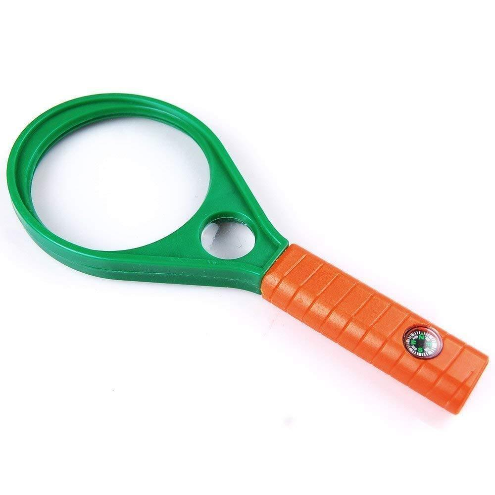 Hand-Held Optical Grade Magnifying Glass with Compass (90mm) - Unnati Enterprises