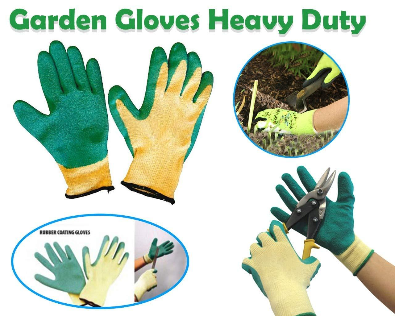 Falcon Rubber Garden Gloves (Green & Yellow) - Unnati Enterprises