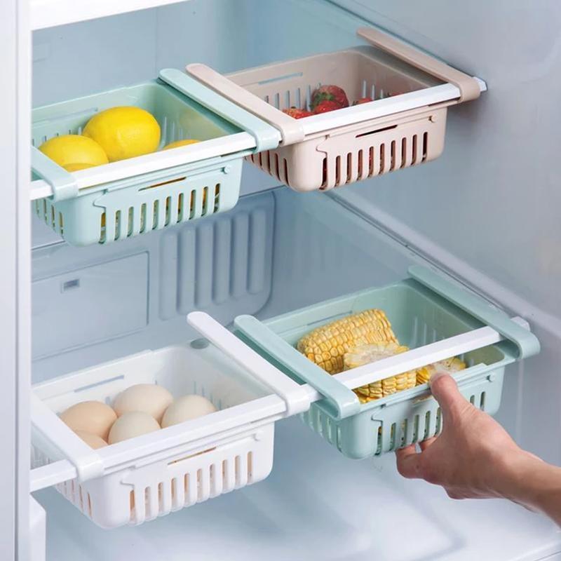 Adjustable Fridge Storage Basket, Fridge Racks Tray Sliding Storage Racks - Unnati Enterprises