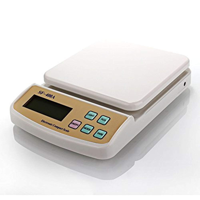 Atom A122 Electronic Kitchen Digital Weighing Scale (SF-400A), White - Unnati Enterprises