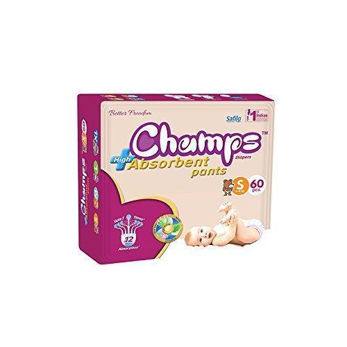 Premium Champs High Absorbent Pant Style Diaper Small Size, 60 Pieces (951_Small_60) - Unnati Enterprises